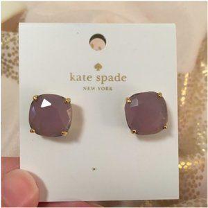 kate spade Jewelry - kate spade lavender purple stud earrings nwt
